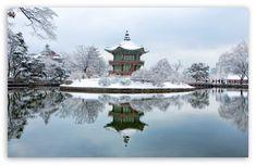 Palais de Gyeongbok, Corée du Sud, hiver HD Fond d'écran pour 4K UHD Widescreen desktop & smartphone