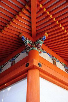 Red roof of Kiyomizu-dera temple, Kyoto, Japan