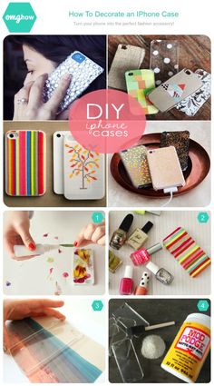 Tips for decorating your old iPhone cases on omghow https://omghow.com/articles/decorate-an-iphone-case #DIY