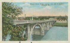 Morgan Street Bridge (nearly 1000 Feet in Length)  Rockford, Illinois