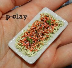 Spaghetti (miniature, polymer clay)
