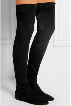 c9496d1a8c59 2016 Fashion Designer suede leather thigh high boots women stretch over the  knee boots autumn winter