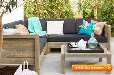 Steigerhouten loungesets, stijlvol door weer en wind. Lees alles op het LeukBuiten blog!
