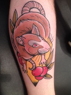 My brand new rat tattoo :D in memory of my buddy Chutney :)