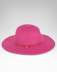 Such a fun hat! bebe Floppy Chain Straw Hat, $29, SKU 180821 #bebe #wishesanddreams 4. a must-have vacay accessory
