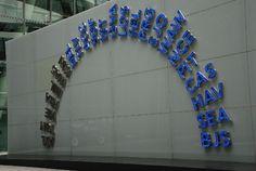 Heathrow Terminal 5, Structurally Bonded Glazed Wall  #glasswall #Heathrow #bondedglass