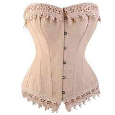 Miss Moly Sexy Women Satin Plus Size Corset Top Steampunk Ribbon Bustiers (5XL, Pink). 12 plastic boning supporting,Lacing up at the back. Steampunk Style,comfortable stain with Lace. Package Included:1 corset top + 1 G-string. Perfect for theme party, co