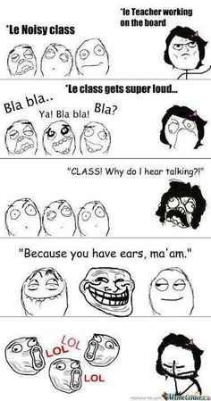 Funny Pictures - Noisy Class | A Collection of Clean Jokes/Humor