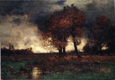 John Francis Murray (American, 1853-1921), A Stormy Day, c. 1887. Oil on canvas, 45.7 x 65.8 cm.