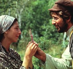 Rosalind Harris and Leonard Frey as Tzeitel and Motel in Fiddler on the Roof - 1971