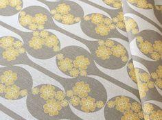 Yellow & gray fabric