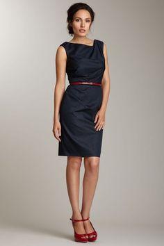 Suzi Chin Sleeveless Draped Detail Dress - hautelook.com