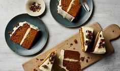Thomasina Miers' roast pumpkin, olive oil and nutmeg cake with fresh ginger icing.