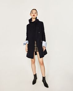 Image 1 of COAT WITH WRAP COLLAR from Zara