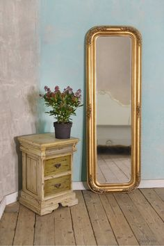 Louis Philippe Fleur Gold Gilt Leaf Bevelled Mirror: For sale at www.DUSX.com DusX - French Mirrors, Chandeliers, Furniture