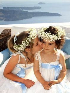 Awwwh! for Kumiwah? Pretty please=) Flower girl's baby's breath wedding flower crowns Toni Kami ❀Flower ❀ Girls❀corona halo