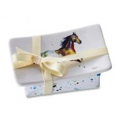 Great Horsey Gift- Soap with beautiful Horse image on soap dish. You can't go wrong here. Cattle Kate