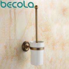Bathroom Accessory Antique Toilet Brush Holder High quality brass toilet brush holder ceramic cup GZ-9008 #Affiliate
