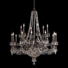 Have to have it. Crystorama Vanderbilt Chandelier - 44W in. English Bronze $3500
