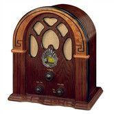 Living room! Found it at Wayfair - Old-fashioned Companion Walnut/Burl Radio