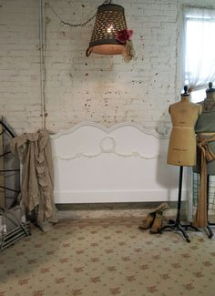 Painted Cottage Chic Shabby White Romantic French King Headboard BD408. $295.00, via Etsy.