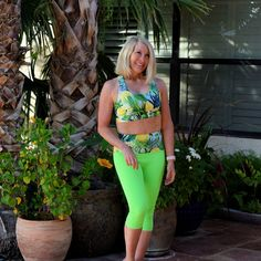 Happy in Pineapple – Haute Business Pineapple Clothes, Yoga Capris, Skinny Girls, Happy Birthday Me, Workout Wear, Neon Green, Are You Happy, Active Wear, Two Piece Skirt Set