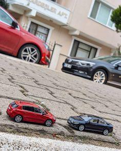 "𝘮𝘣𝘵 🇹🇷 on Instagram: ""⠀⠀⠀⠀⠀⠀⠀⠀⠀⠀⠀⠀⠀⠀⠀⠀⠀ Peugeot 308 T9 GTi by Peugeot Sport Volkswagen Passat B8 Night Blue  Scale 1:43  #scale143 #herpa #norev #diecast…"""