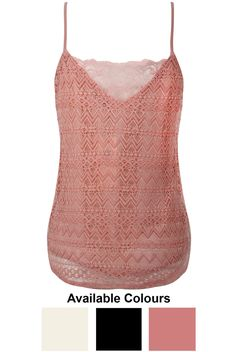 Lace Intricate Cami - Buy Fashion Wholesale in The UK