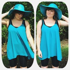 Don't let a windy day keep you from wearing those cute short tunics! Instead, pair them with our biker short style capri! #summerdays #summer #summerfun #fun #justforyou #JFY #sunhat #bikershort #capri #effortless #windyday #nature #gooutside #outsidefashion