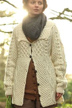 I like this kind of sweater. This would be an investment, but it's something I could see wearing for the rest of my life - especially if it was shaped like this. I saw something similar to this in the store window of the irish shop across the street from us!