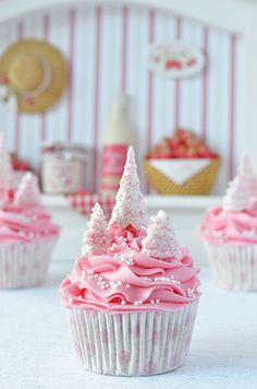 Cupcakes a diario: Cupcakes de jengibre y naranja (de rosa Navidad) + un simulacro de locura total