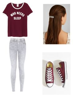 """""""The dark side Tyler Part 1"""" by pretty-blueeyes ❤ liked on Polyvore featuring Converse and Jennifer Behr"""