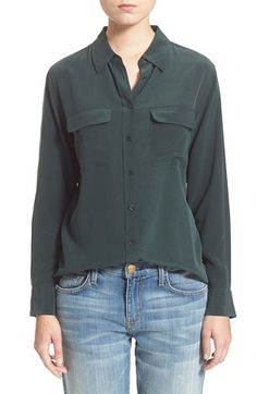 Equipment 'Slim Signature' Silk Shirt available at #Nordstrom