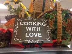 "hours ago Hoover High School is proud to say that they are ""Cooking With Love"" in the cafeteria! School Meal, School Lunches, School Cafeteria Decorations, Hoover High School, Lunch Room, Bulletin Board, Signage, Nutrition, Entertaining"