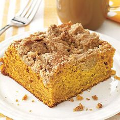 Pumpkin Crumb Coffee Cake | Pumpkin Recipes Just in Time for Thanksgiving