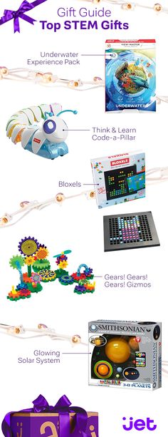 Give the little ones in your life a holiday season to remember with fun and educational STEM toys from Jet.com. Discover the latest toys and gadgets designed to help make learning about science, technology, engineering, and mathematics fun. Just consider us your holiday helpers. Shop the Gift Guide today at Jet.com.
