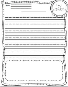 Freebie Feuilles modèles pour l'écriture French Teaching Resources, Teaching French, Core French, French Immersion, French Teacher, Learning Activities, Cycle 1, Language, Templates