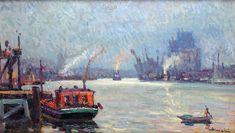 Le port de Rouen par Albert Malet Painting, Puertas, Artist, Painting Art, Paintings, Painted Canvas, Drawings