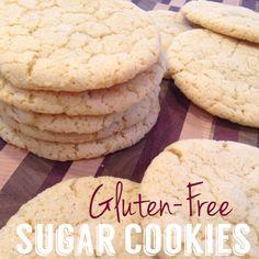chewy {gluten-free} sugar cookies.