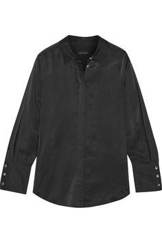 EQUIPMENT + Kate Moss Jonie silk-satin blouse. #equipment #cloth #blouse