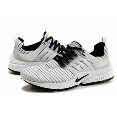 Women's Nike Air Presto Mesh Running Shoes-White/Black