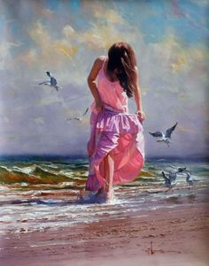 Wading In The Salty Surf~ Robert Hagan