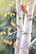 Watercolor Paintings - Aspen Light by Patricia Pushaw