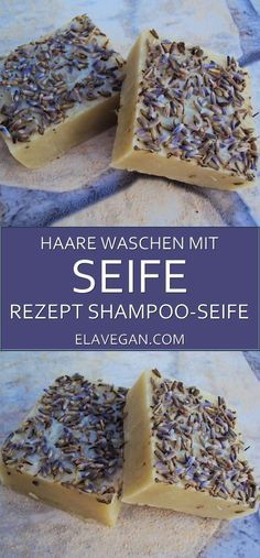 Homemade shampoo bar with lavender and clay. This soap will clean your hair without harmful chemicals.Try out this DIY shampoo bar recipe for healthy hair Diy Shampoo, Homemade Shampoo And Conditioner, Lush Shampoo Bar, Solid Shampoo, Diy Lush, Lavender Recipes, Rides Front, Homemade Cosmetics, Recipes