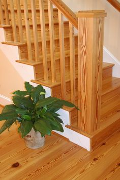 Antique Select Heart Pine Stair Treads and Risers