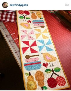 Farmgirl vintage table runner