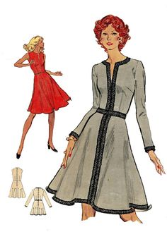 Vintage 1970s Vogue 8370 Misses' Flared by DesignRewindFashions, $15.20