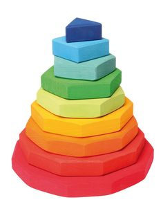 Grimm's Stacking Tower Geometric - Small - Honeybee Toys