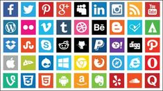 Looking for cool social media icons? Check out this collection with the best 44 sets of free social media icons. Get your free social media vector icons! Social Media Impact, Social Media Buttons, Power Of Social Media, Social Media Services, Social Media Site, Social Media Marketing, Seo Services, Social Networks, Content Marketing