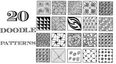 zentangle patterns easy doodle simple pattern designs doodles beginners line mandala today circle cube spiral